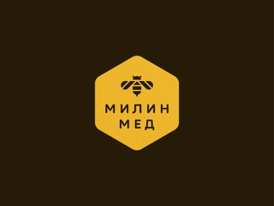 Mila Honey honeybee animal honeycomb food symbol mark icon logo bee honey