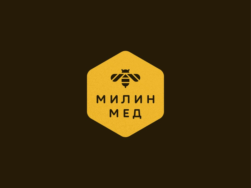Mila Honey honeybee animal honeycomb food symbol mark icon logo bee honey