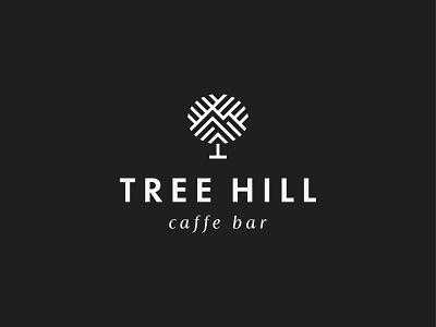 Tree Hill / Caffe Bar club coffee drink bar caffe symbol mark icon logo branch mountain hill tree