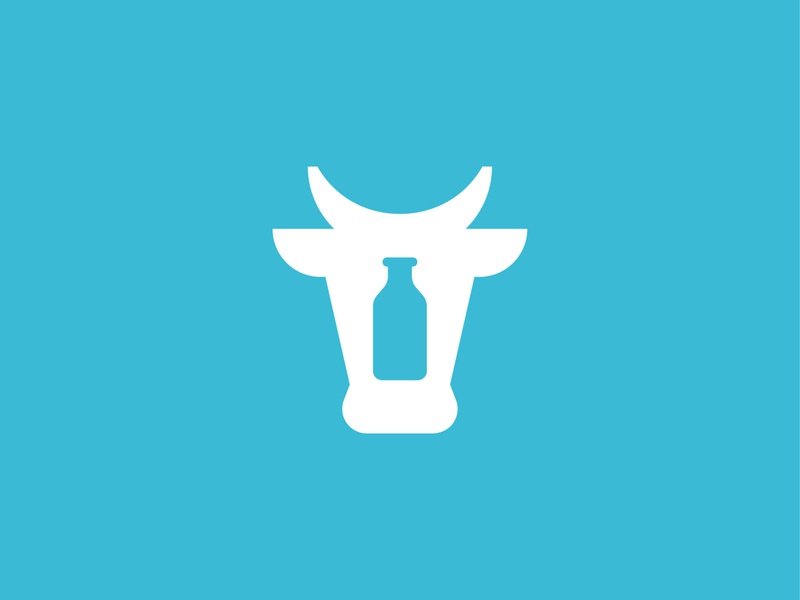 Cow milk food symbol mark icon logo animal milk cow