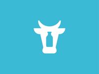 Cow milk food symbol mark icon logo animal milk cow