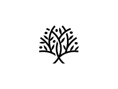 Olive Tree symbol mark icon logo leaf branch food tree olive