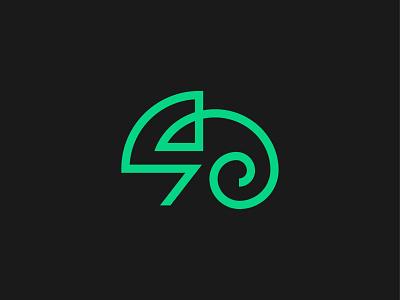 Chameleon symbol mark icon logo animal chameleon