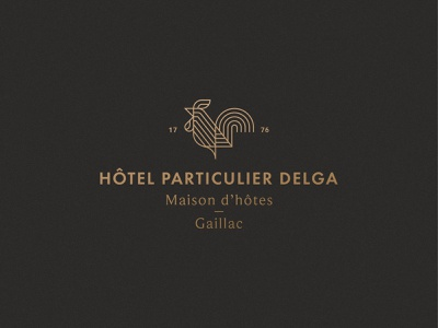 Hotel Particulier Delga maison hotel rooster france gaillac animal symbol mark icon logo