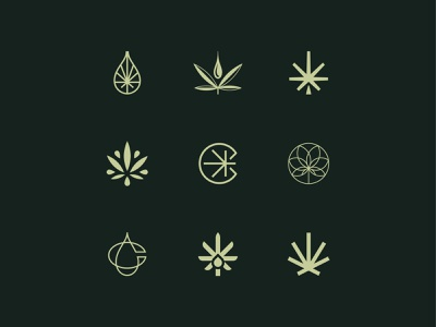 Canna Pharmacy Logo Icons letter symbol mark icon logo c thc cbd drop canna cannabis