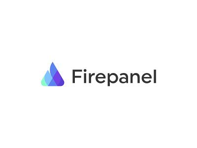 Firepanel abstract symbol mark icon logo shape geometric panel fire firepanel