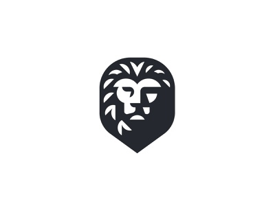 Lion shadows mane symbol mark icon logo jungle king animal lion