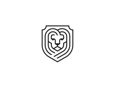 Lion Crest luxury symbol mark icon logo animal king crest lion