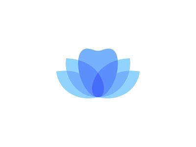 Zen Dental symbol mark icon logo clinic dentist dental care flower lotus tooth dental
