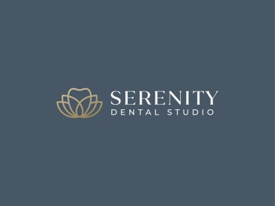 Serenity Dental Studio symbol mark icon logo dentist zen flower lotus tooth studio dental serenity