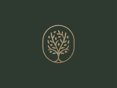 Olive Tree luxury symbol mark icon logo olive oil grow leaf branch fruit tree olive