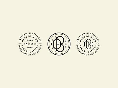 Brandystra Distillery symbol mark icon logo monogram letters traditional spirit distillery istra brandy