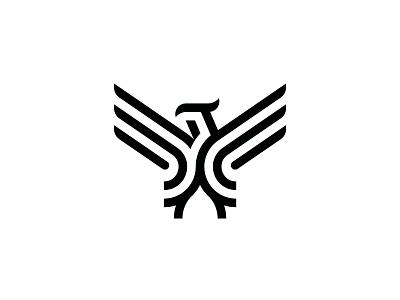 Eagle Logo design simple animal symbol mark icon logo sky fly wings eagle