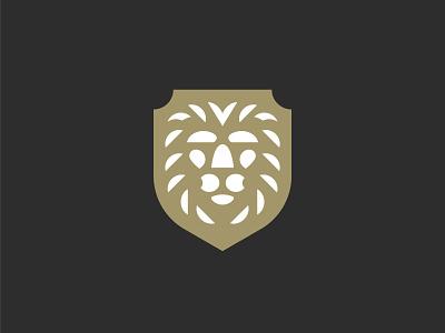 Lion Crest animal symbol mark icon logo mane head shield crest king lion