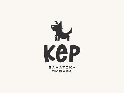 KER - Zanatska Pivara / DOG - Craft Brewery drink symbol mark icon logo beer brewery animal ker dog