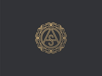AOS Monogram luxury symbol mark icon logo letters monogram