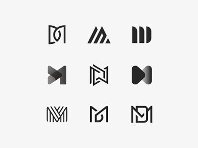 MD Logo Exploration d m design symbol mark icon logo monogram letters