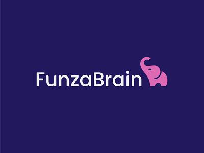 Funza Brain symbol mark icon logo brain animal learn elephant