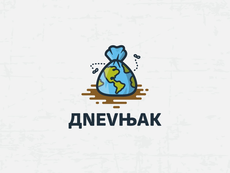 Dnevnjak - Comedy Show logo icon mud bag garbage earth serbian comedy show tv