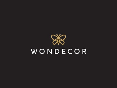 Wondecor luxury butterfly icon logo home decor wonder