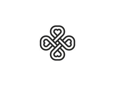 Clover symbol mark icon logo leaf four happy flower clover