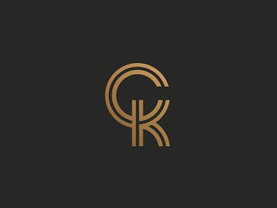 CK monogram symbol mark logo k c
