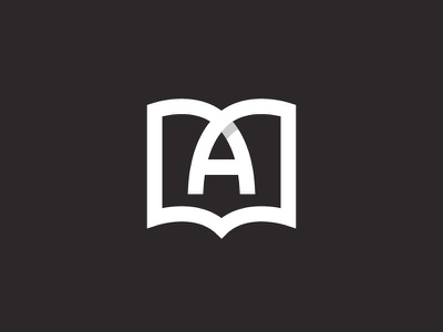 A Book symbol mark icon logo study learn studying learning online letter a book