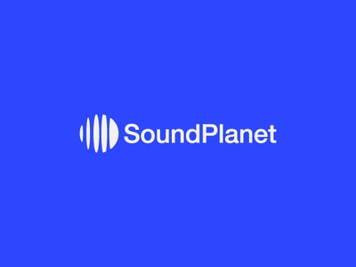Sound Planet symbol mark logo icon ball beat wave music planet sound