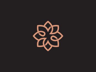 Flower symbol mark icon logo lotus leaf flower floral