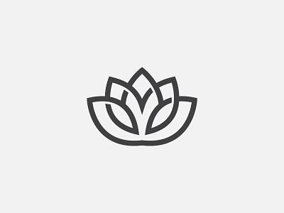 Lotus Flower sun leaf symbol mark icon logo med spa flower lotus