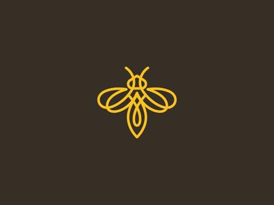 Bee symbol mark icon logo honey bee humble