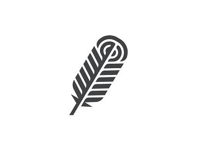 Feather 1 symbol mark icon logo peacock fly bird feather