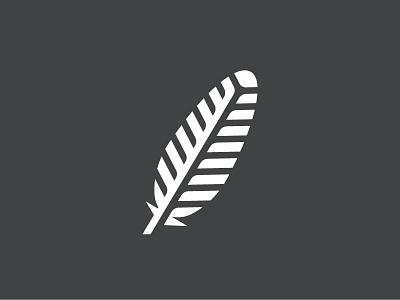 Feather 2 symbol mark icon bird logo fly feather bird
