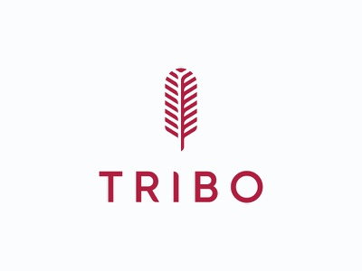 Tribo - Foodies Recommend mark icon symbol logo feather food app food tribe tribo