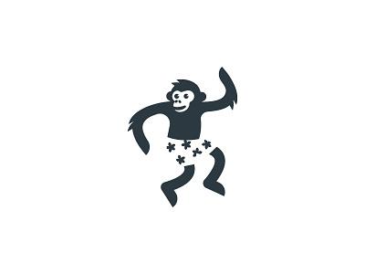 Monkey symbol icon mark logo animal ape chimp monkey