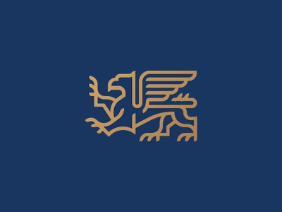 Griffin symbol icon mark logo lion eagle mythology griffon gryphon griffin