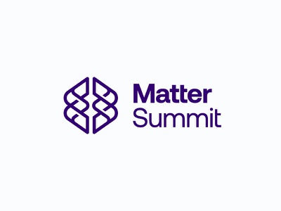 Matter Summit / Brain Cancer Summit mind symbol mark icon logo cancer summit matter brain