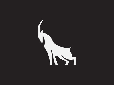 Goat symbol mark icon logo horn mountain animal goat