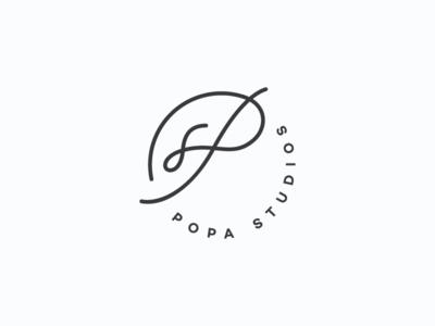 Popa Studios s p initials icon symbol mark logo photography studios popa