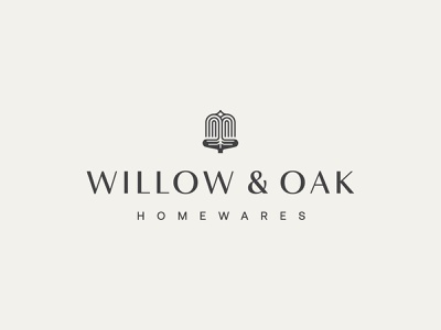 Willow & Oak ampersand homewares symbol mark icon logo nut oak tree willow