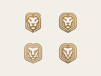 Lions exploration symbol icon mark logo gold big cat animal king lion