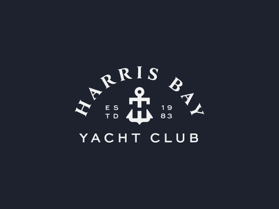 Harris Bay Yacht Club symbol mark icon logo anchor boat club yacht bay