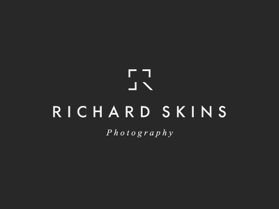 Richard Skins Photographer letters letter r s monogram symbol mark icon logo focus lense shoot camera photographer photography photo
