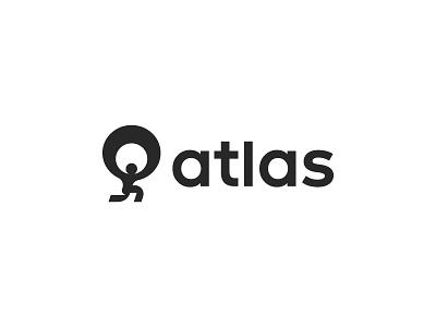 Atlas symbol mark icon logo earth human god titan atlas