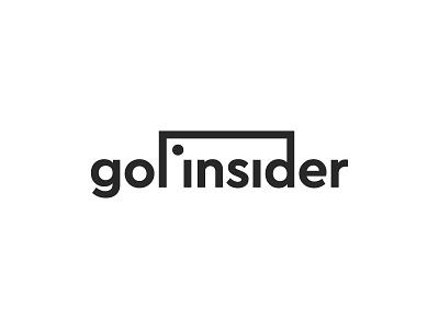 Gol Insider Logo player football soccer ball simple symbol mark icon logo goal