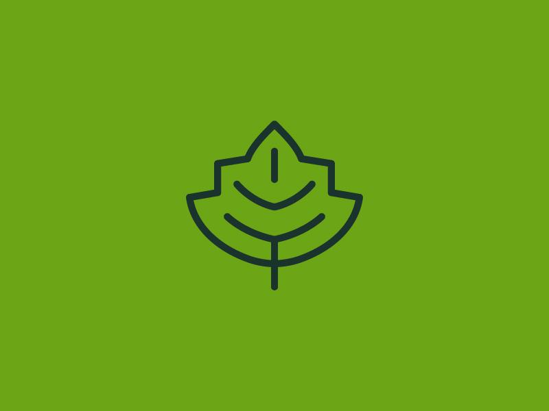 IVY simple symbol mark icon logo green leaf plant ivy
