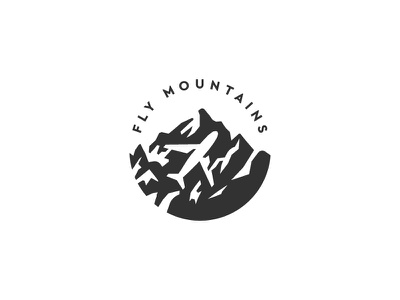 Fly Mountains aerial symbol mark icon logo airline hill mountains mountain fly