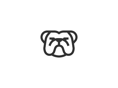 Bulldog animal symbol mark icon logo dog bulldog