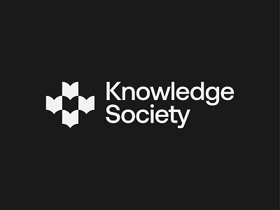 Knowledge Society symbol mark icon knowledge society books book logo