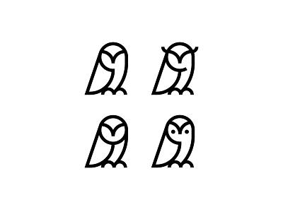 Owls line simple animal symbol mark icon logo bird night owls owl
